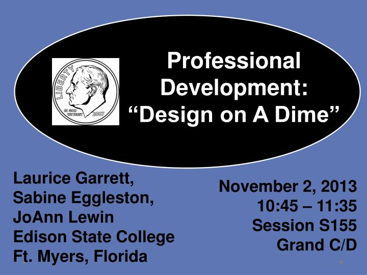 professional development design on a dime n.