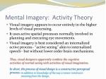 mental imagery activity theory1