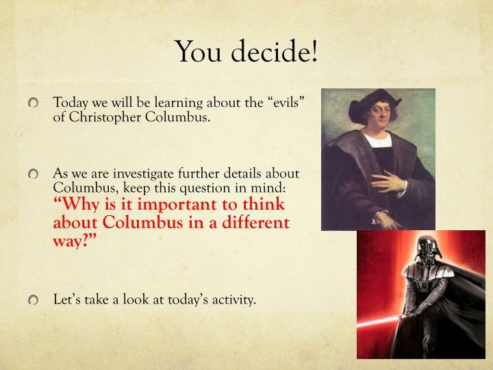 columbus was a hero