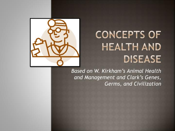 concepts of health and disease n.