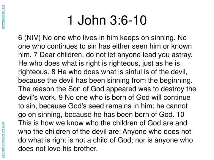 1 John 3:6-10
