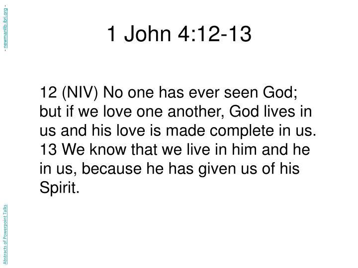 1 John 4:12-13