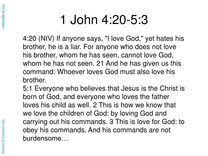 1 John 4:20-5:3