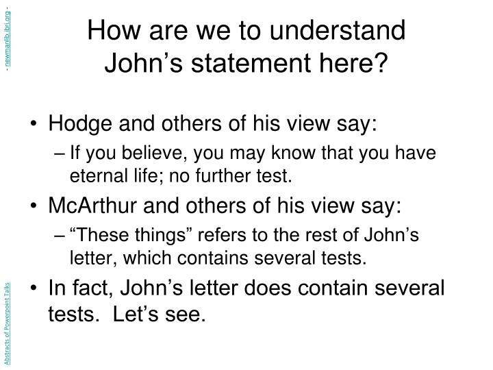 How are we to understand