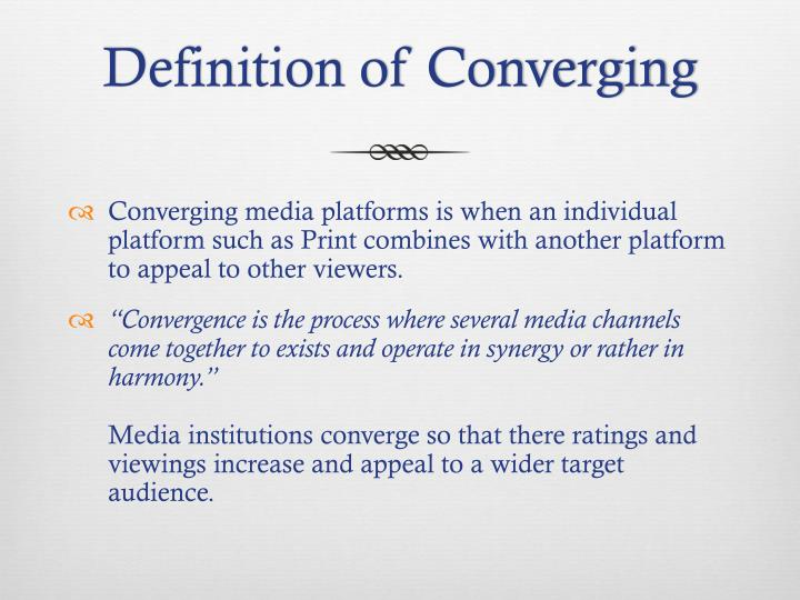 Definition of converging