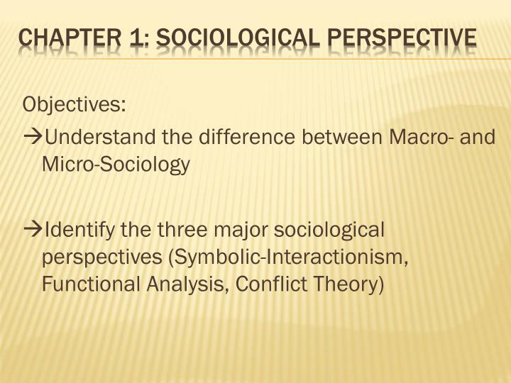 the three main sociological perspectives