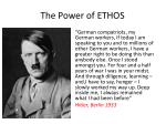 the power of ethos