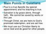 main points in galatians
