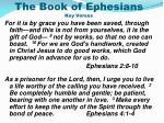 the book of ephesians key verses