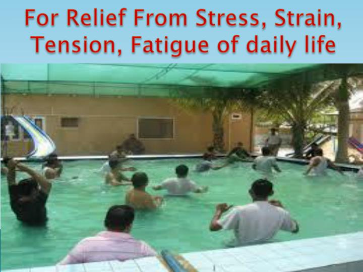 For Relief From Stress,