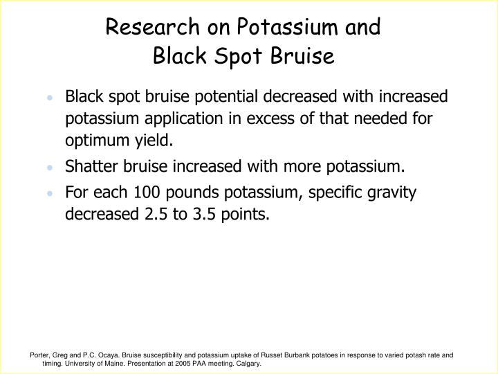 Research on Potassium and