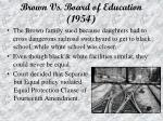brown vs board of education 1954