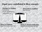 legal cases contributed to these concepts