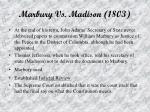 marbury vs madison 1803