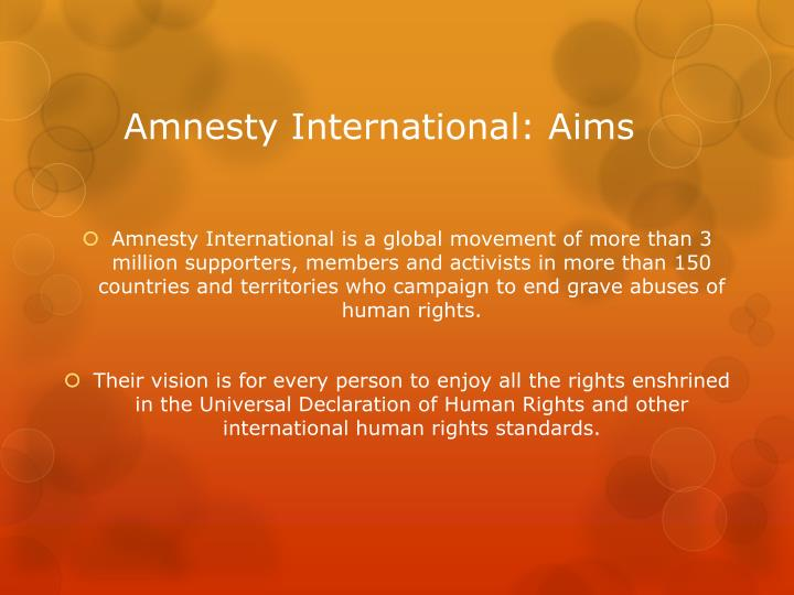Amnesty international aims
