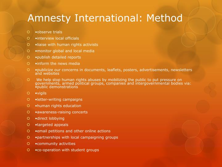 pressure groups amnesty international More groups have thrown their weight behind recent calls for the sack of amnesty international  amnesty international's expulsion from  pressure groups.
