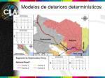 modelos de deterioro determin sticos