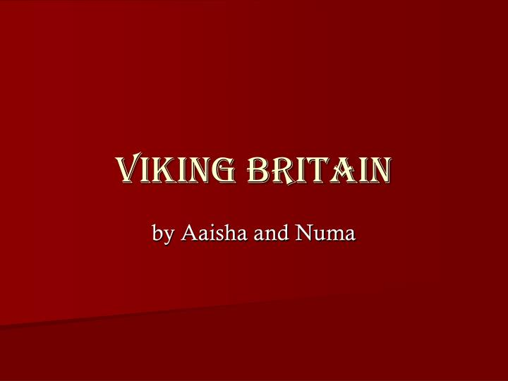viking britain n.