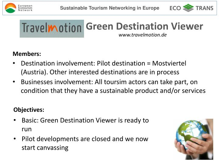 application of sustainable tourism a case Triple wins for sustainable development 5 countries and sectors that are restoring the global environmental commons while also providing employment, energy, and other basic services to vulnerable people, and building resilience in vulnerable communities, whose.