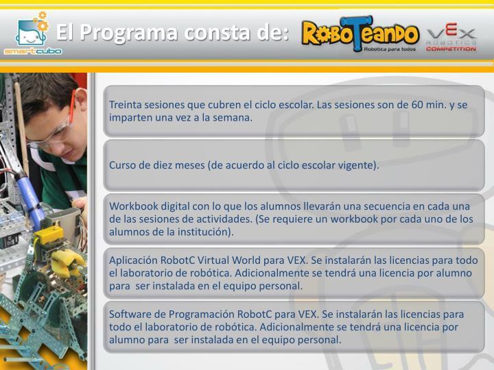 El Programa consta de: