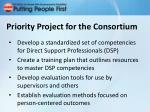 priority project for the consortium