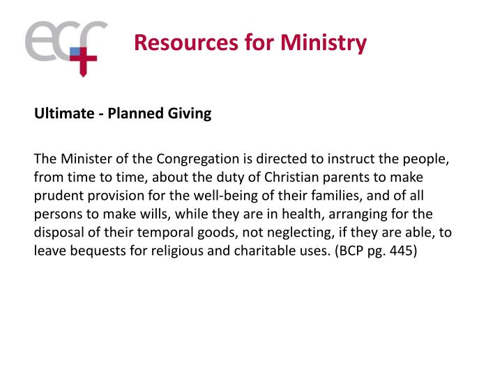Resources for Ministry