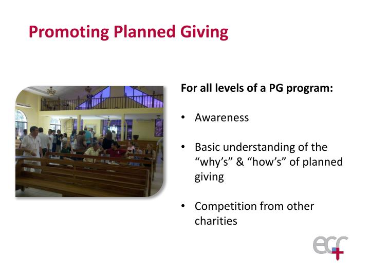 Promoting Planned Giving