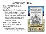 jamestown 1607