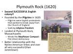 plymouth rock 1620