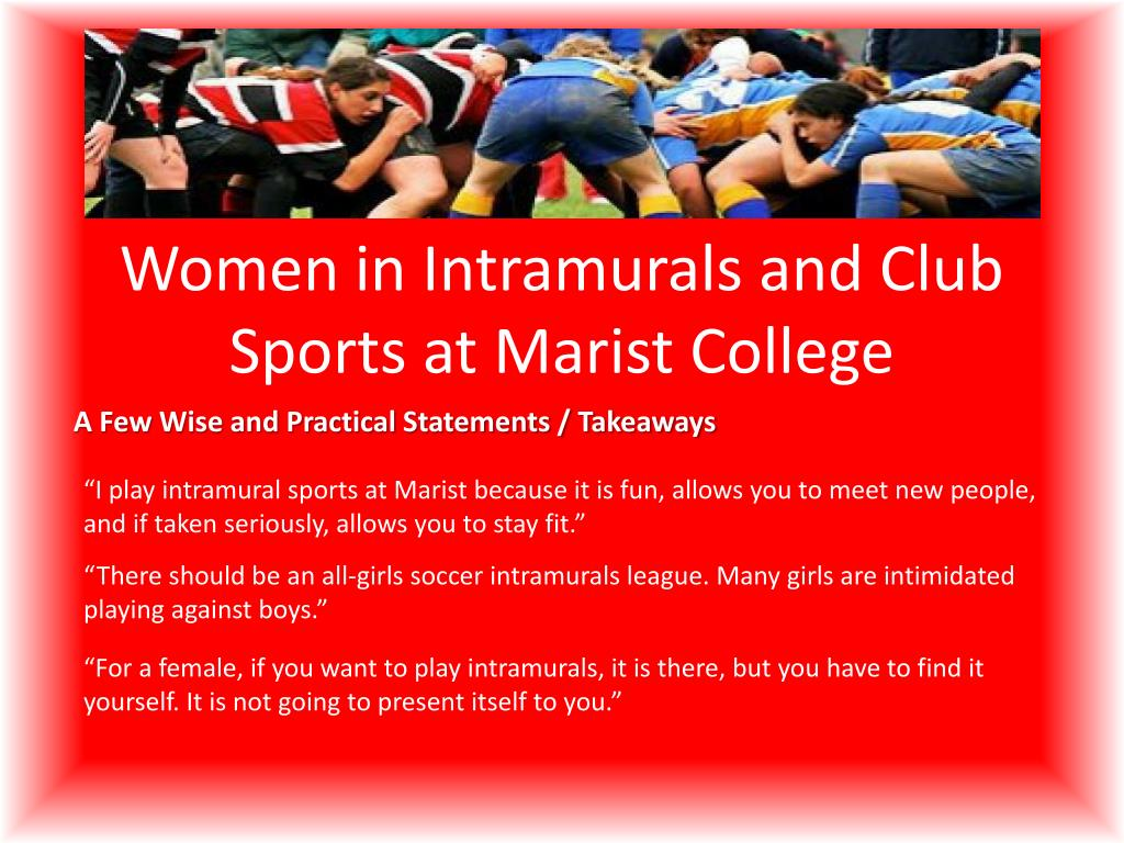 PPT - Women in Intramurals and Club Sports at Marist College