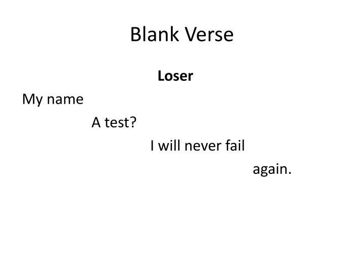 Ppt Blank Verse Powerpoint Presentation Id2462079