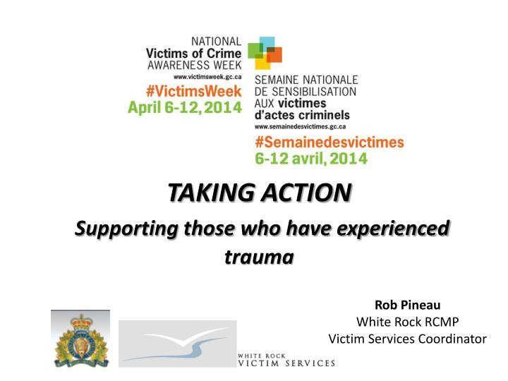 taking action supporting those who have experienced trauma
