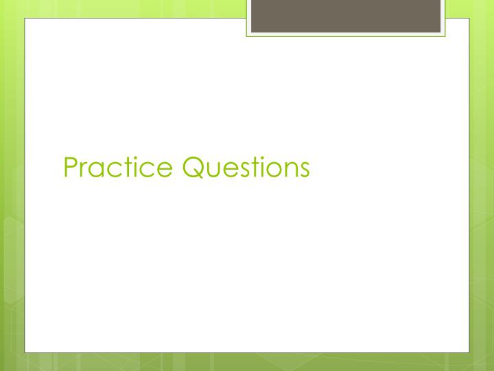 practice questions n.