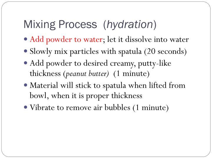 Mixing Process  (