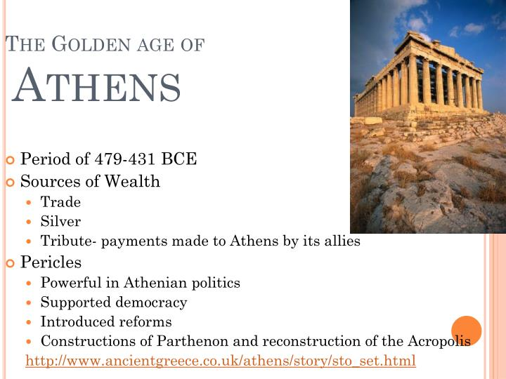 golden age of athens essay Was the 5th century bce a golden age for athens this research paper was the 5th century bce a golden age for athens and other 63,000+ term papers, college essay examples and free essays are available now on reviewessayscom autor: reviewessays • august 29, 2010 • research paper • 1,251 words (6 pages) • 1,278.