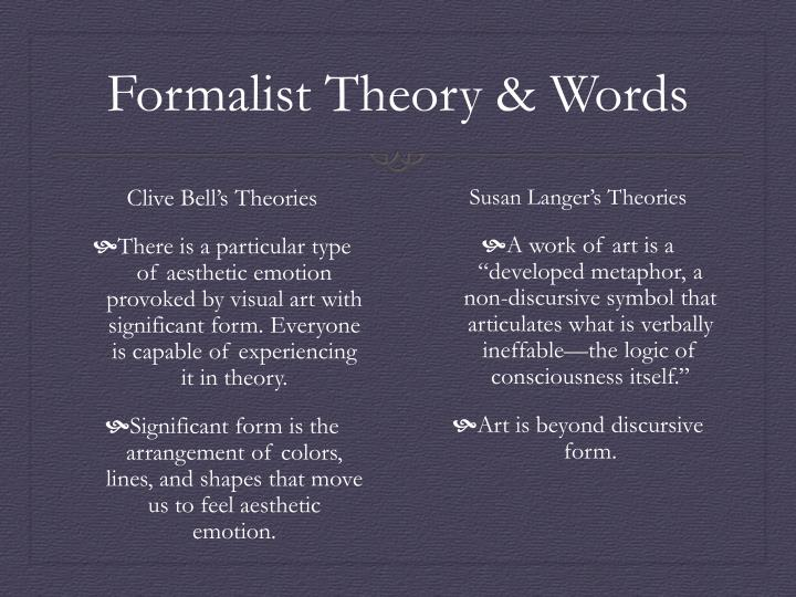 Formalist Theory & Words