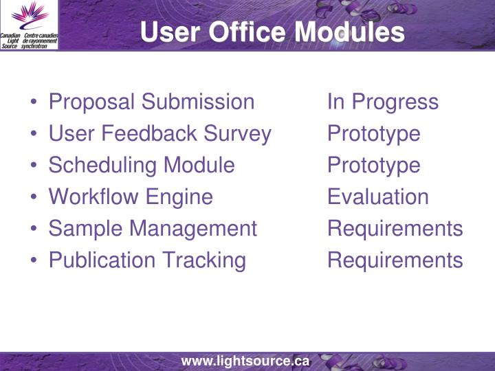 User Office Modules