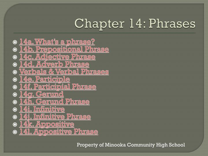 chapter 14 phrases n.