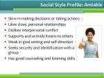 social style profile amiable