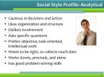 social style profile analytical