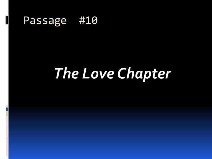 Passage  #10