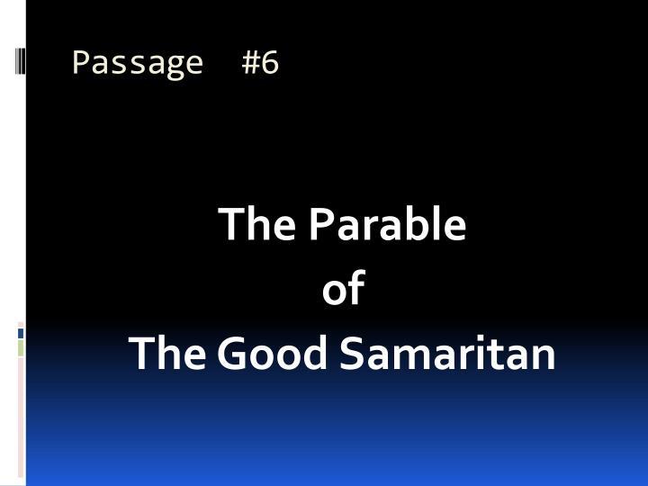 Passage  #6