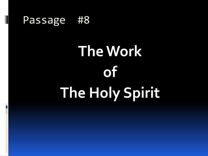 Passage  #8
