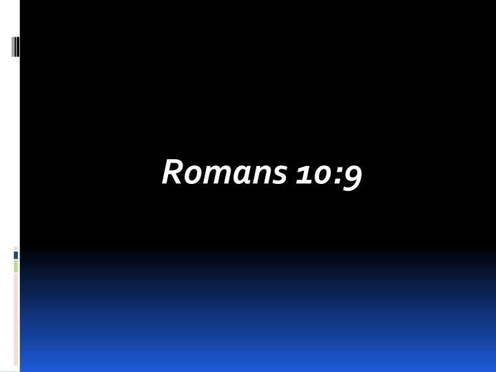 Romans 10:9