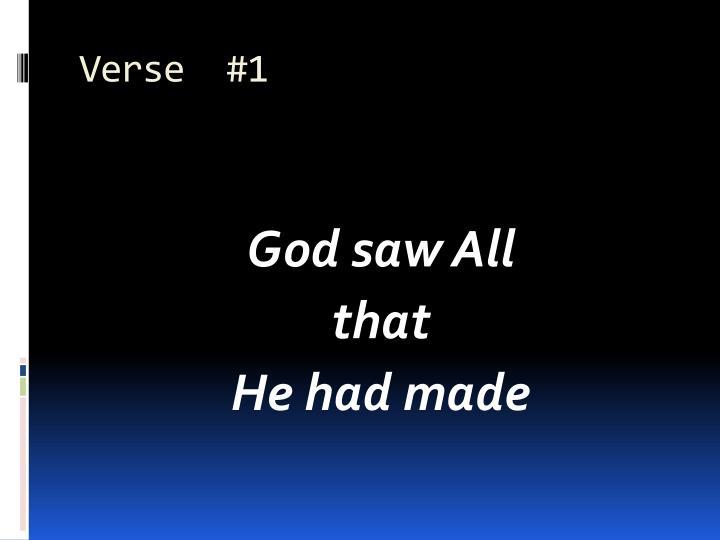 Verse  #1