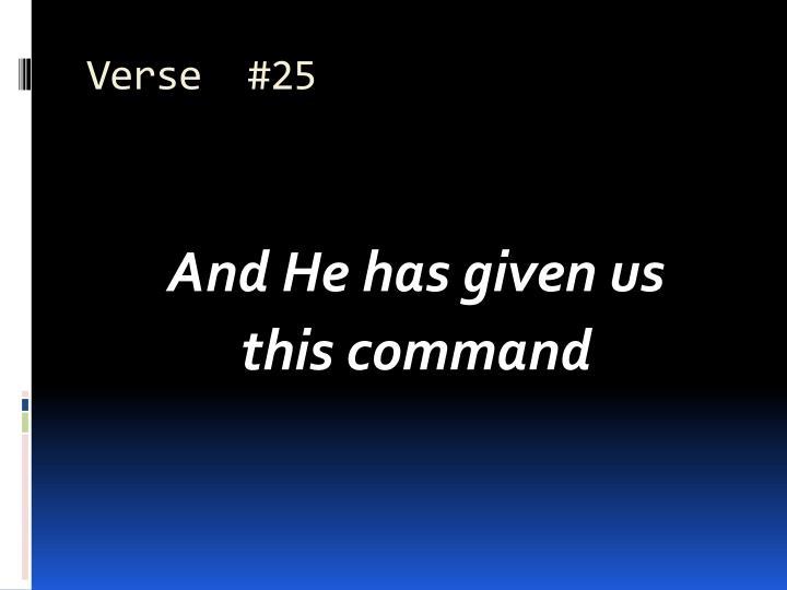 Verse  #25