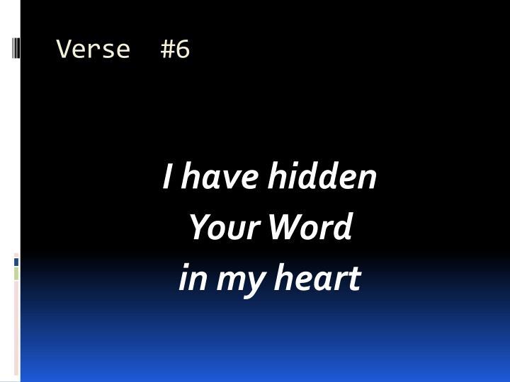 Verse  #6