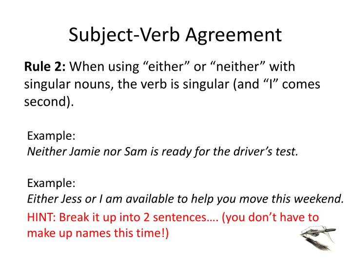Ppt Subject Verb Agreement Powerpoint Presentation Id2463019
