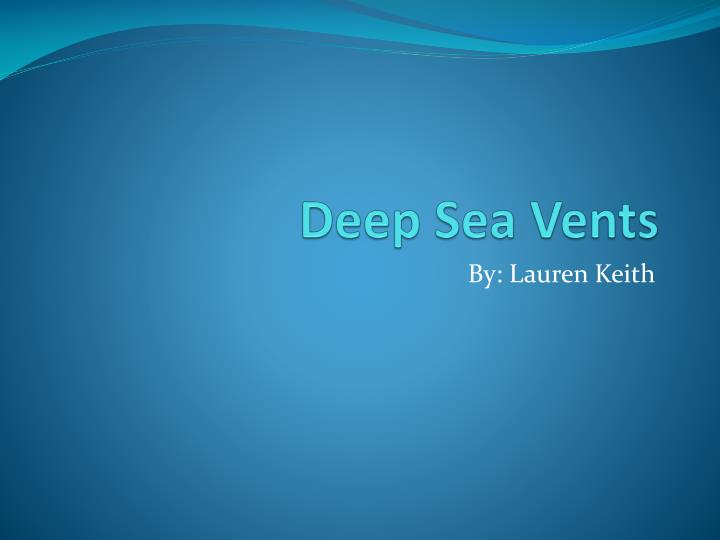 deep sea vents n.