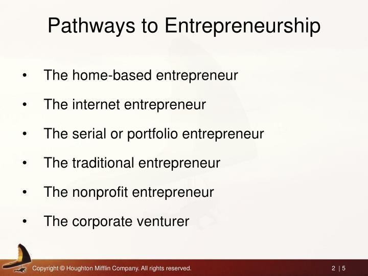 Pathways to Entrepreneurship